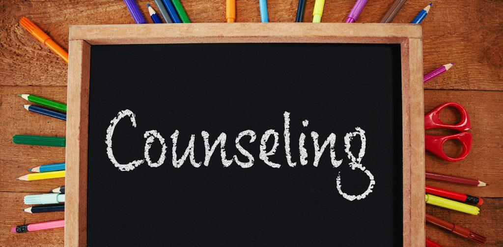 counseling written on small chalkboard