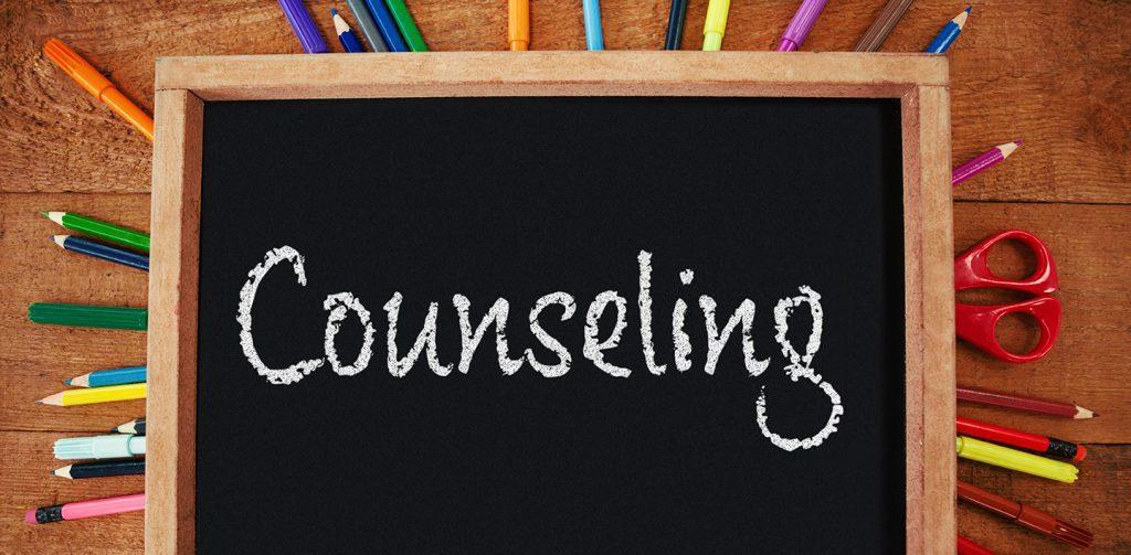 The word Counseling written on a blackboard